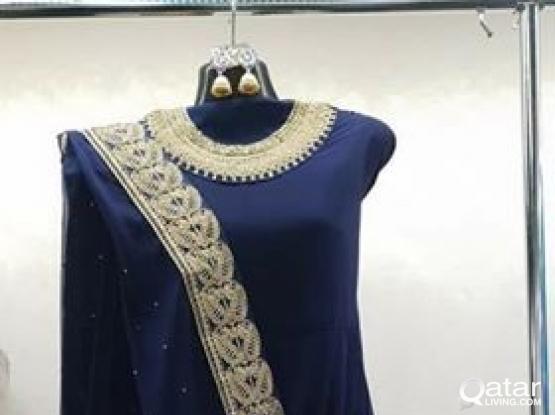 INDIAN ANARKALI GOWN NAVY BLUE