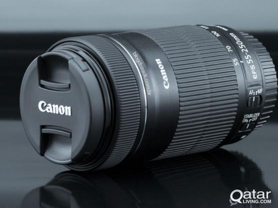 CANON DSLR LENSE  55-250 STM IS Zoom Lens & TAMRON 17-50MM f 2.8
