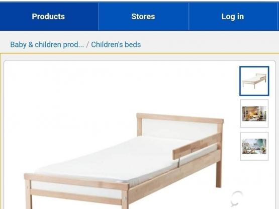 Almost new IKEA Kids Bed with Mattress.almost new.qatar leaving sale