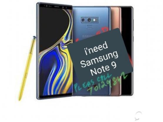 I'm buying  Samsung galaxy Note 9