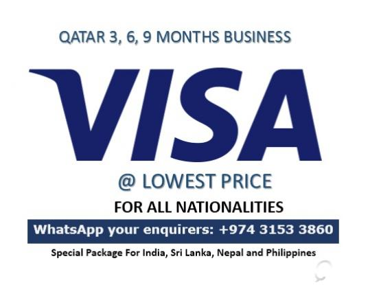 Qatar Tourist & Business Visit Visa (Low rate) - 31533860