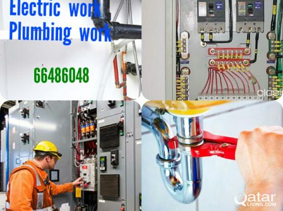 Electric and plumbing works
