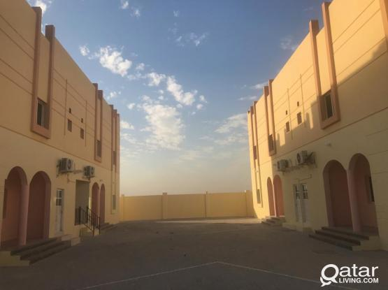 7BHK VILLA COMPOUND WITH BIG MAJLIS WITH AC FOR STAFFS OR LABORS EASY ACCESS TO RASSLAFFAN