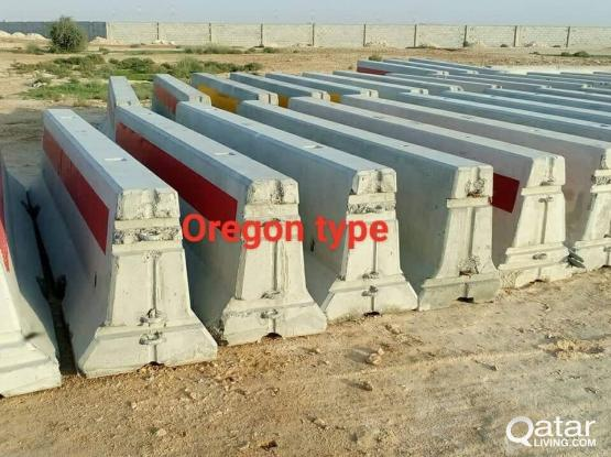Used concrete barrier for sale.