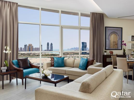 3 Bedroom Apartment - Staybridge Suites Doha Lusail