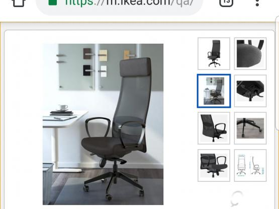 Ikea office chair and table