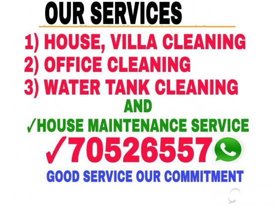 CLEANING AND HOUSE MAINTENANCE SERVICE.CALL 70526557.