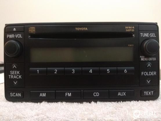 2012 TOYOTA  PRADO CD PLAYER