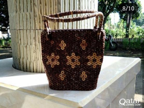 open pre order rottan bags and coconut skin handicraft for 100 QAR
