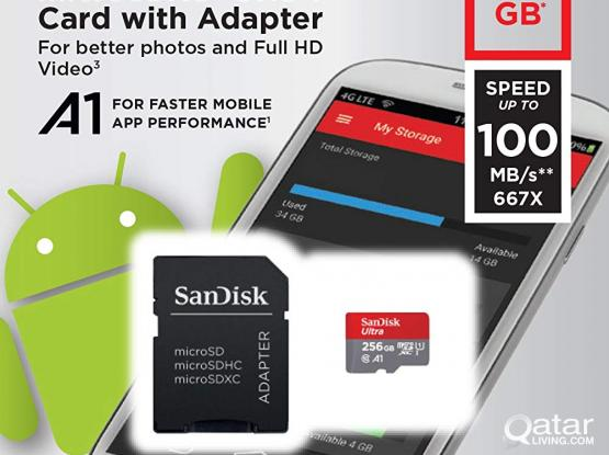 SanDisk 256GB Ultra microSDXC UHS-I Memory Card with Adapter - 100MB/s