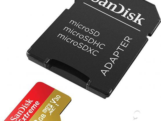 New SanDisk 128GB Extreme microSD UHS-I Card with Adapter - U3 A2