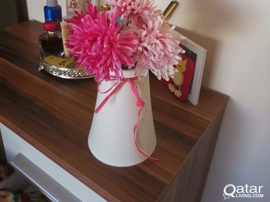 Artificial flower and pot
