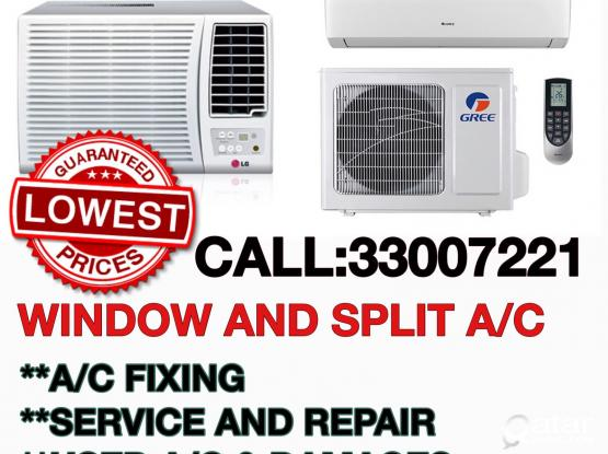 33007221 LOWEST PRICE SPLIT OR WINDOW   A/C SALE AND USED AND DAMAGE A/C BUYIN.