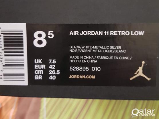 AIR JORDAN RETRO LOW SIZE UK 7.5