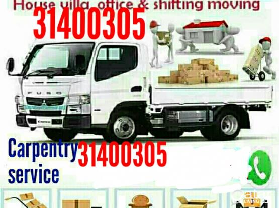 We do LOW PRICE shifting,moving,carpentry,packing, transportation,professional Labour, carpenter services Please call/whatsapp 31400305