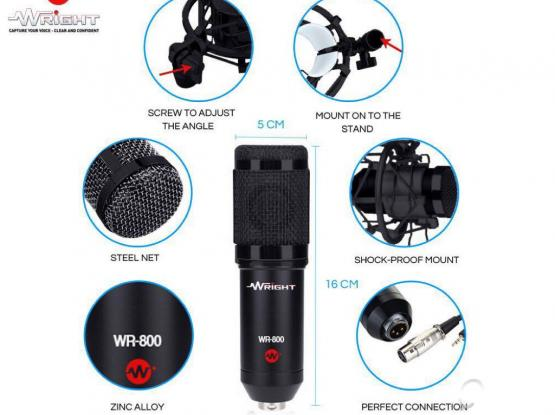 Condenser mic with phantom power