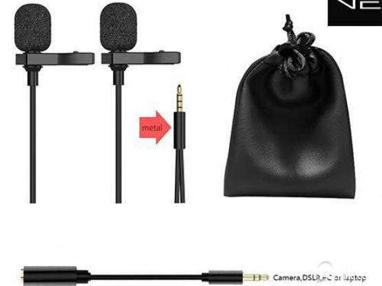 Dual lav mic for smartphones and cameras