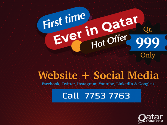 Website + Social Media Just for Qr. 999 | Special Offer