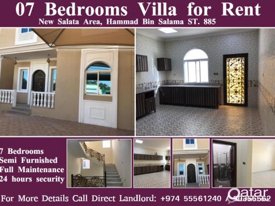 07 Bedrooms Villa For Rent