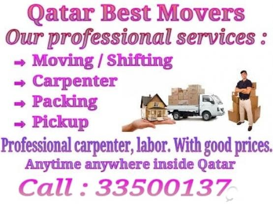 Shifting Moving, packing, carpenter, pickup service Call : 33500137-