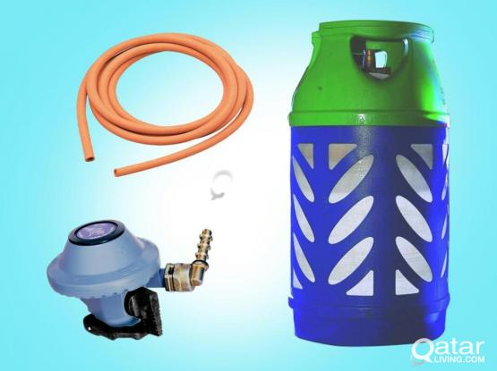Gas Cylinder with Regulator and Hose