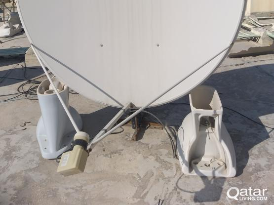 Air tel dish and receiver