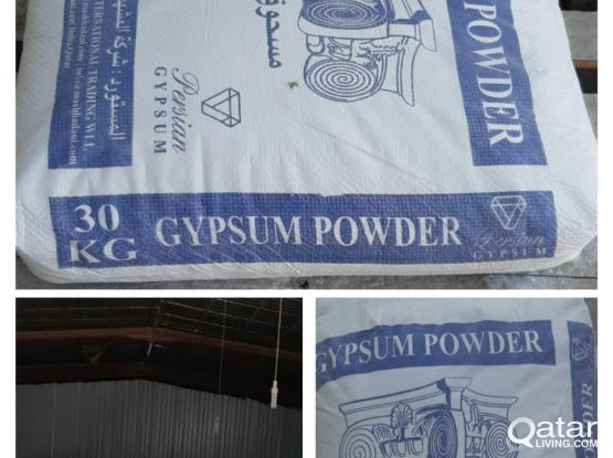 WHITE CEMENT & GYPSUM POWDER AVAILABLE