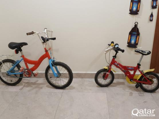Two bicycles for children