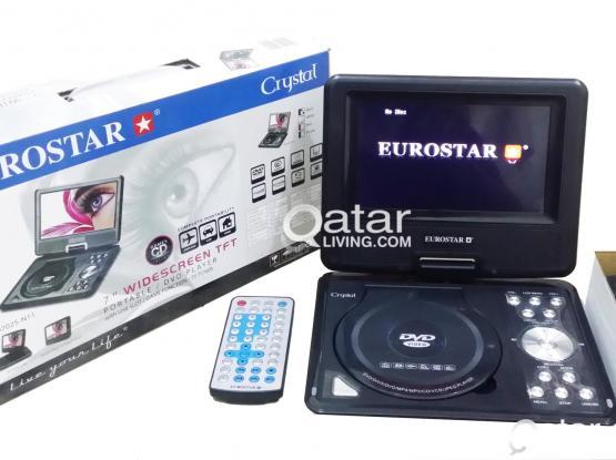 """EUROSTAR 7"""" Widescreen TFT Portable DVD Player"""
