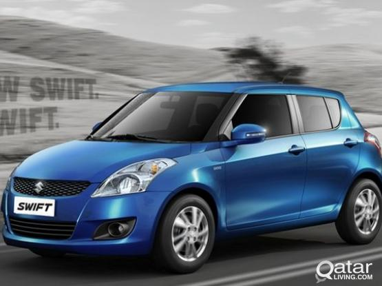 suzuki swift  montly rent 1350qrs