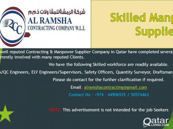 Manpower Suppliers and Subcontract work