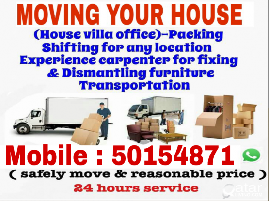 Moving & shifting  anywhere in Qatar . Call: 50154871