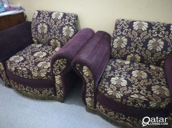 TWO SINGLE SOFA