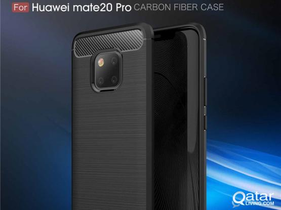 Mate 20 Pro  Brushed Carbon Fiber Soft TPU Back Cover