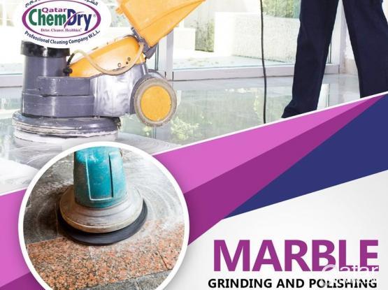 Marble floors Grinding, Mirror Polishing & Crystallization works |doha