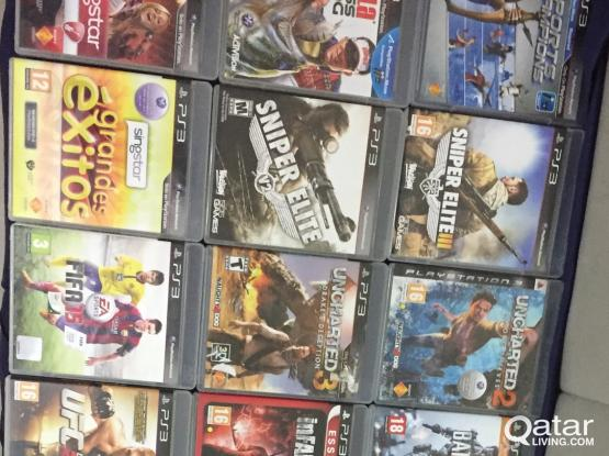 Playstation 3 games and motion cam and controller
