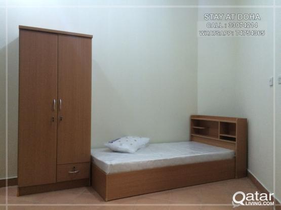 BED SPACE & ROOM FOR EXECUTIVE BACHELORS IN NAJMA