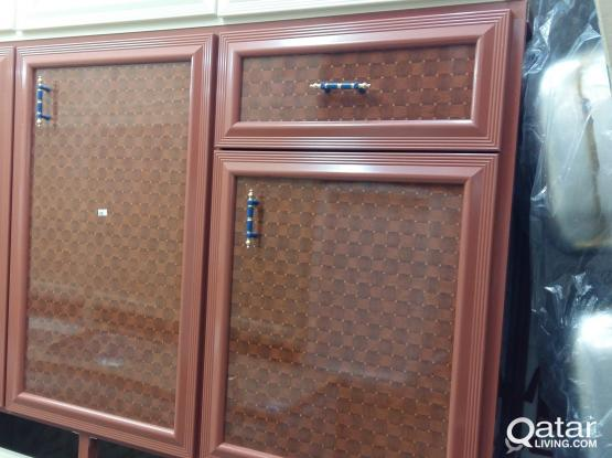 Almunium kitchen cabinet  make and steel work make