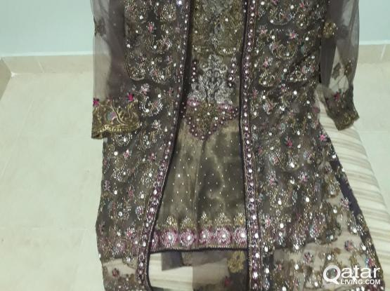 New (unused) Fully stitched Party wear Pakistani designer Net and shiffon suit