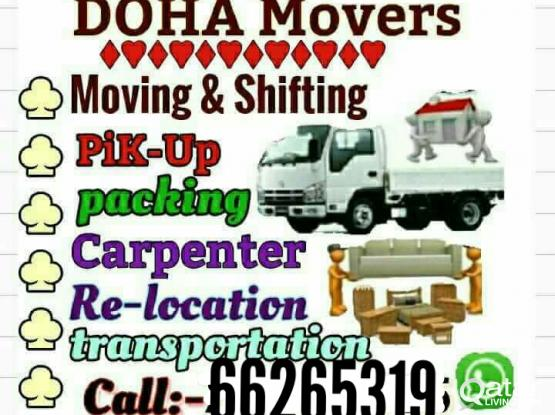 Low price moving.. Shifting.. Ac/service.. Call me 66265319 Carpenter.. Packing..transportation service..