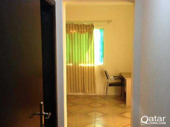 FULLY FURNISHED SHARING SPACE AVAILABLE  IN MASTER BED ROOM FOR INDIAN EX.BACHELOR IN NAJMA - DOHA