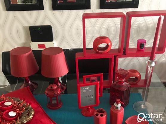 25 RED decor items!