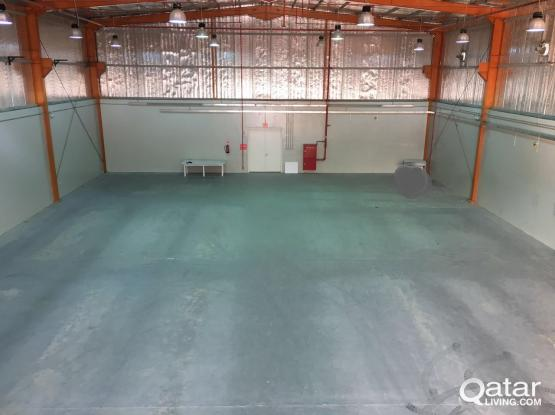 Air conditioned warehouse, with food license and approval, including utilities