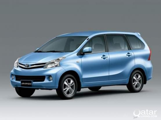 Special offer!!! Rent on TOYOTA AVANZA 7 SEATER car for 130/-Qr per day CONTACT:31117404