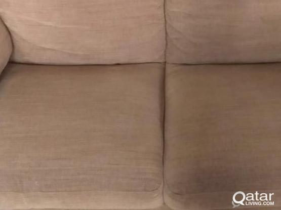 Sofa 2 seater IKEA Brown Color