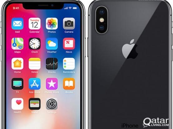 iPhone X black 256 GB new