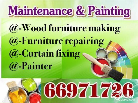 Wood furniture making ,, Re-pairing and Painter = 66971726