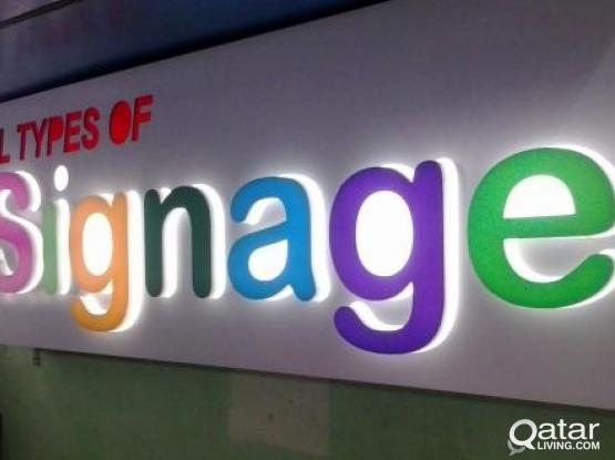 Signage, 3D Board, LED Board, Sticker Call -50194855