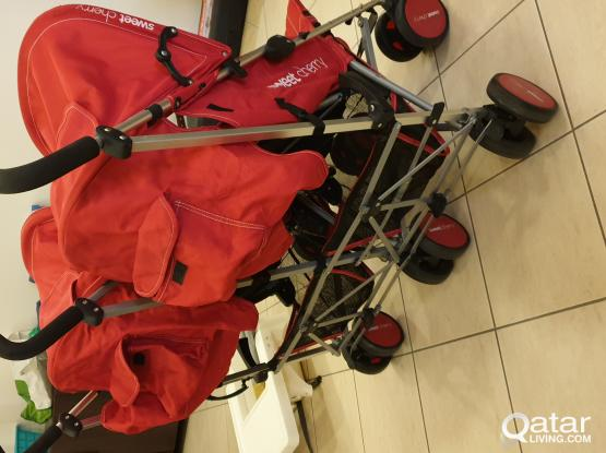 Wheelchair, Baby high char, Stroller and iron