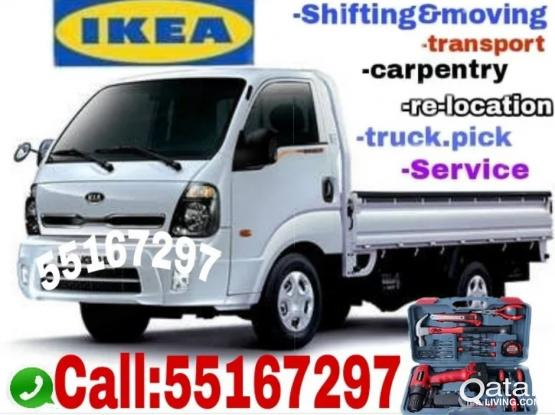 Shifting moving carpenter trucpick services call 55167297